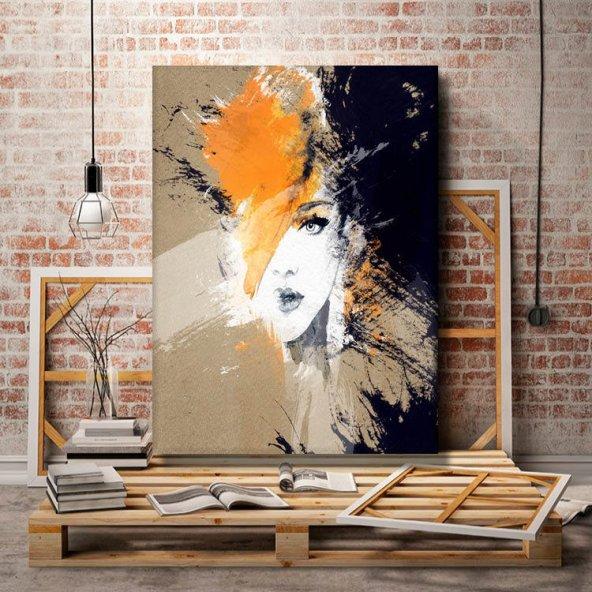 yağlı boya görünümlü kadın kanvas  tablosu 45x30 cm
