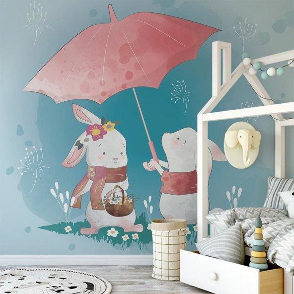 Çocuk Odası Duvar Kağıdı - Semsiye - Seçenekli Ürün 150x75 cm