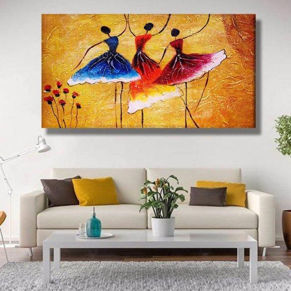 balerin  kadınlar  kanvas tablosu