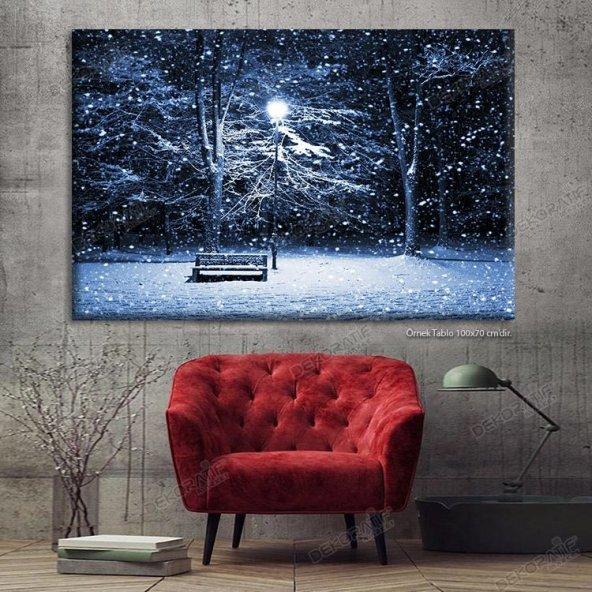 Siyah Beyaz Ledli Duvar Tabloları 70 cm x 100 cm