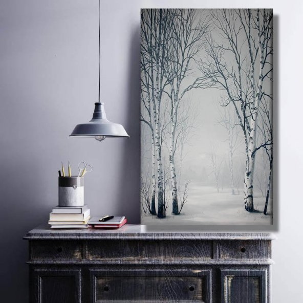 kurumuş ağaçlar  kanvas  tabloları 40 cm x 80 cm