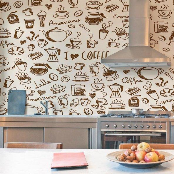 Kendinden Yapışkanlı Desenli  Mutfak Duvar  Folyoları
