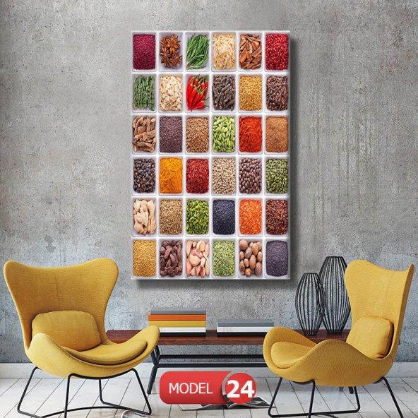 mutfak dekoru için  kanvas tablolar 40 cm x 80 cm