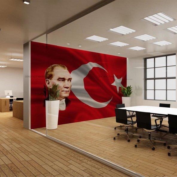 Ofis İçin Atatürk Köşesi Duvar Kağıdı - Seçenekli Ürün 600x300 cm