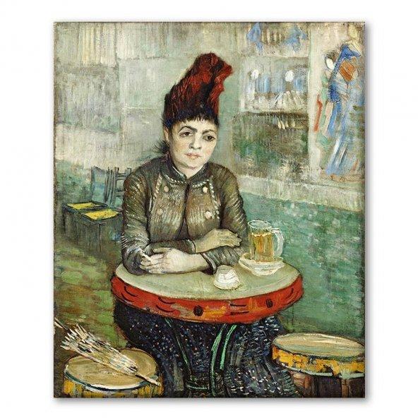Vincent Van Gogh Café du Tambourinde Oturan Agostina Segatori Tablosu 100x125 cm