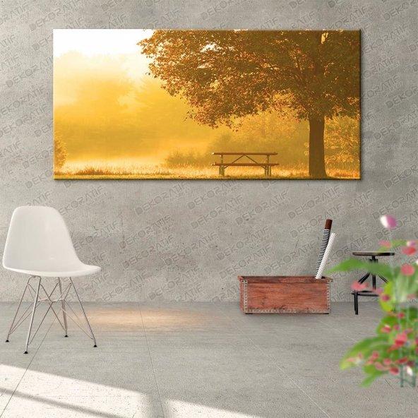 Manzara Ağaç Kanvas Tabloları 60 cm x 120 cm