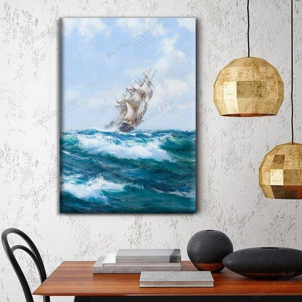 Gemi-Deniz Tablosu 80 x 125 cm