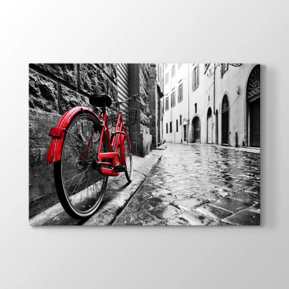 Kırmızı Bisiklet Tablosu 70x90 cm