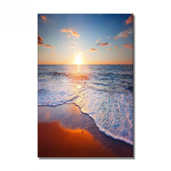 günbatımı deniz manzara  kanvas tablo 125x80 cm