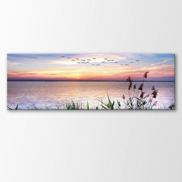 Panorama Kanvas Tablo Manzara Tabloları 90x30 cm