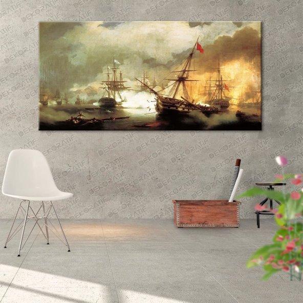 Deniz Donanma Temalı Tablo 60 cm x 120 cm