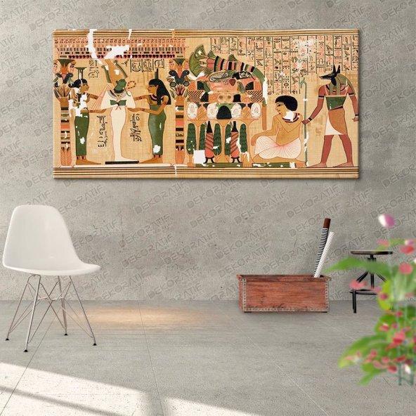 Eski Mısır Kanvas Duvar Tablosu 50 cm x 100 cm