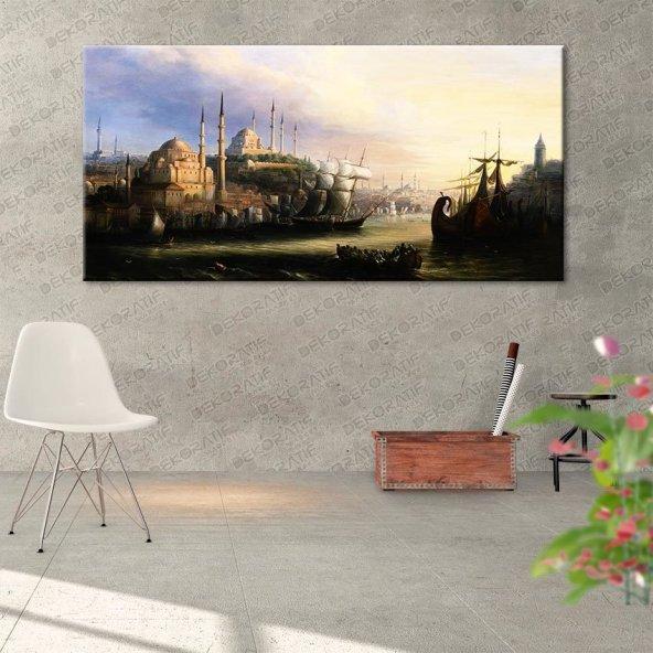 Camii-İstabul Şehirli Tablo 30 cm x 60 cm