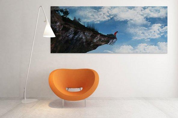 Gökyüzü Motifli Kanvas Tablo 60 cm x 120 cm