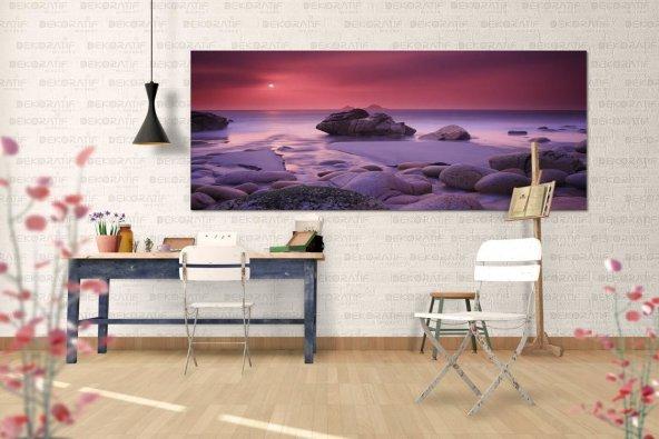 Kayalık-Deniz Manzaralı Tablo 70 cm x 140 cm