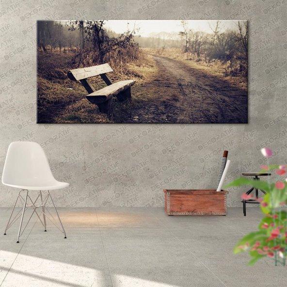 Yol Manzaralı Kanvas Tablo 80 cm x 160 cm