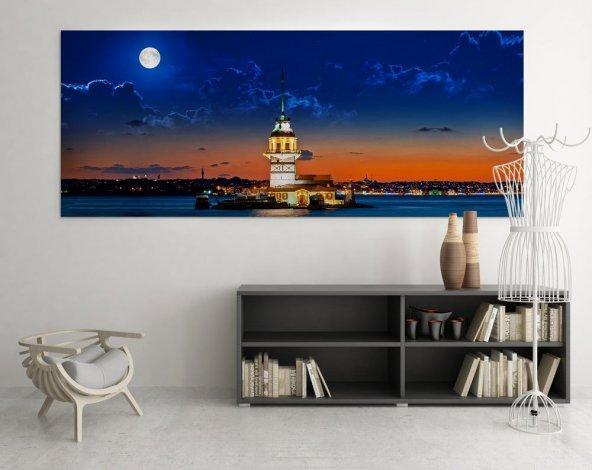 Kız Kulesi Kanvas Duvar Tablosu 30 cm x 60 cm