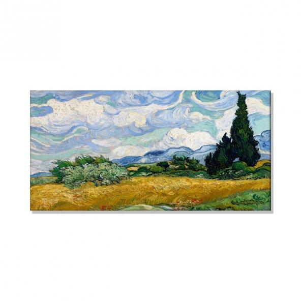 Vincent Van Gogh- Buğday Alan Selvi Kanvas Tablosu