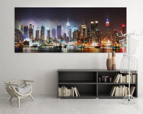 Siyah - Şehirli Duvar Tablosu 50 cm x 100 cm