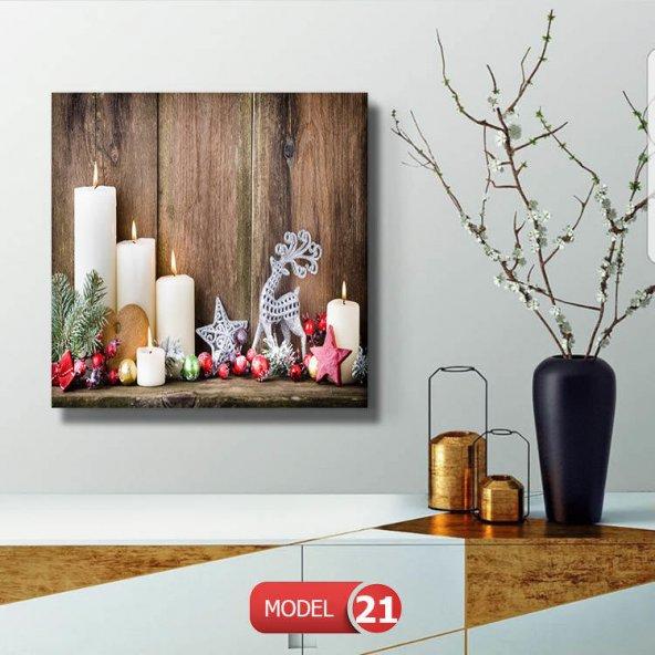 led ışıklı retro mumlar tablosu