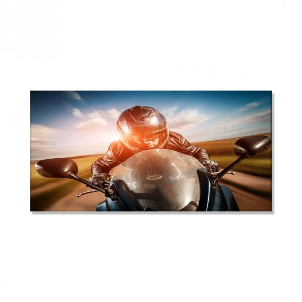 Motorsiklet  Hız Tutkusu Kanvas Tablosu 80 cm x 160 cm