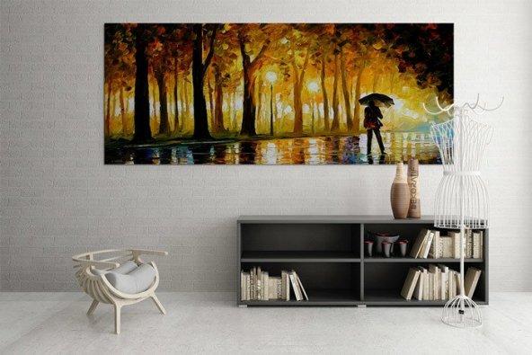Park Orman Resimli Duvar Tablosu 70 cm x 140 cm
