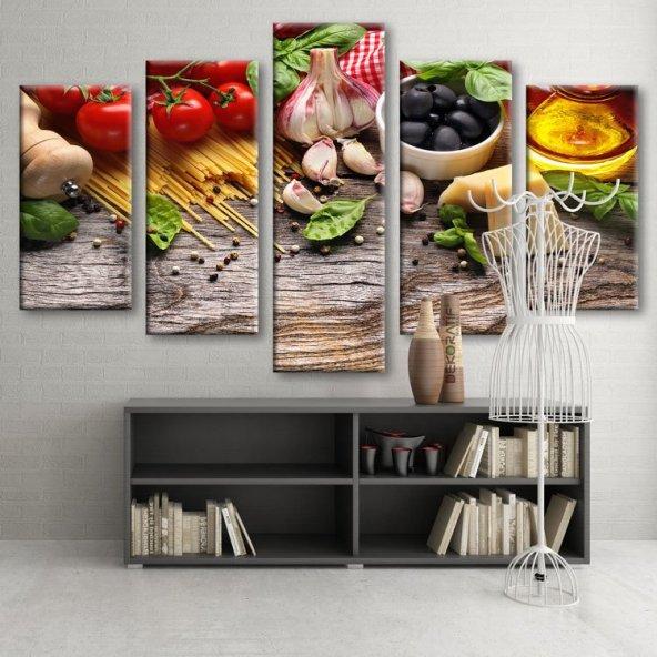 5 Parçalı Kanvas Tablo -Mutfak Tablosu KÜÇÜK BOY