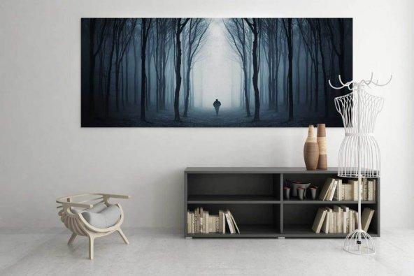 Siyah-Beyaz İnsan Figürlü Tablo 40 cm x 80 cm