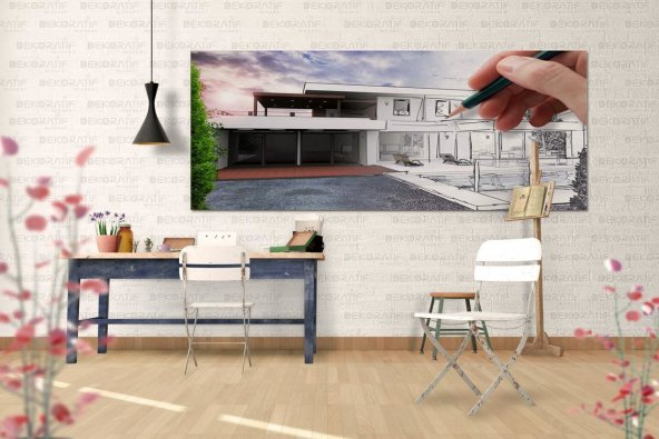 Mimar Kanvas Duvar Tablosu 60 cm x 120 cm