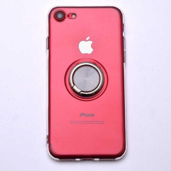Edelfalke Apple iPhone 8 Les Silikon Kılıf Gri