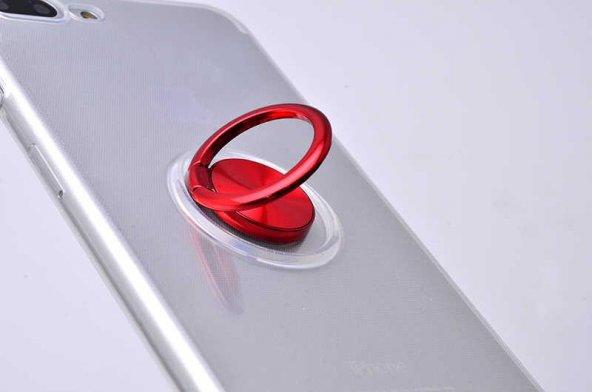 Edelfalke Apple iPhone 8 Plus Les Silikon Kılıf Kırmızı