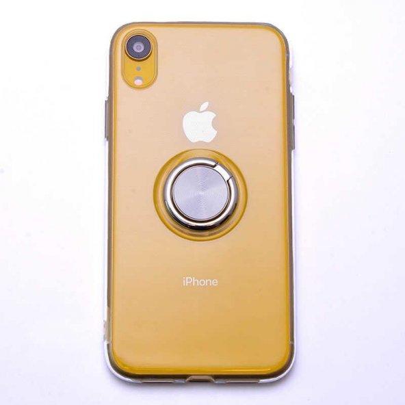 Edelfalke Apple iPhone XR 6.1 Les Silikon Kılıf Gri