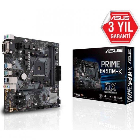 ASUS PRIME B450M-K S-L-V DDR4 DVI USB3,1 AM4