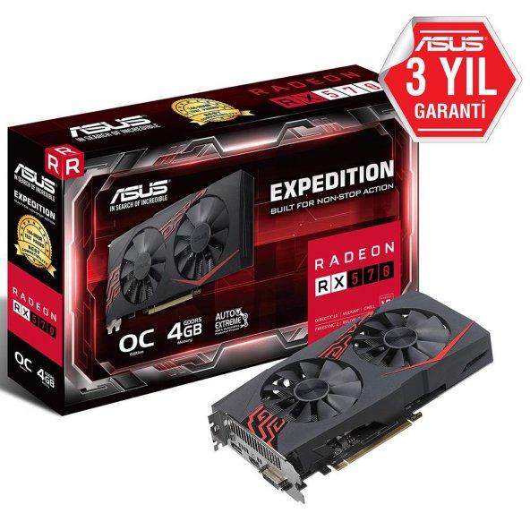 ASUS RX570 EXPEDITION OC 4GB GDDR5 256Bit AMD Rade