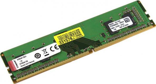 KINGSTON 4 GB 2666Mhz DDR4 CL19 Pc Ram KVR26N19S6