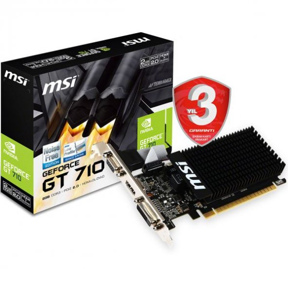 MSI VGA GT 710 2GD3H LP GT710 2GB DDR3 64b DX12 PC