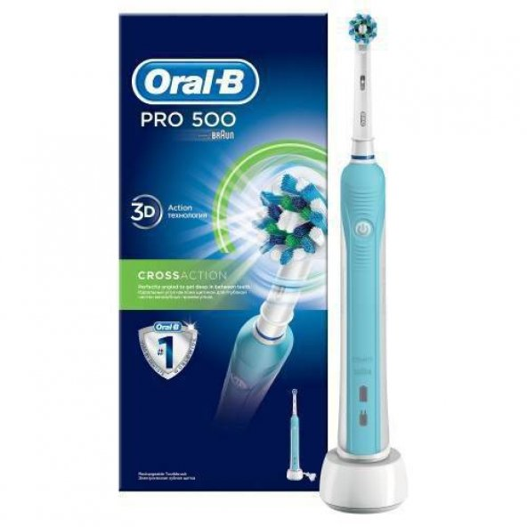Oral-B Pro 500 Şarj Edilebilir Diş Fırçası Cross Action Diş Fırçası