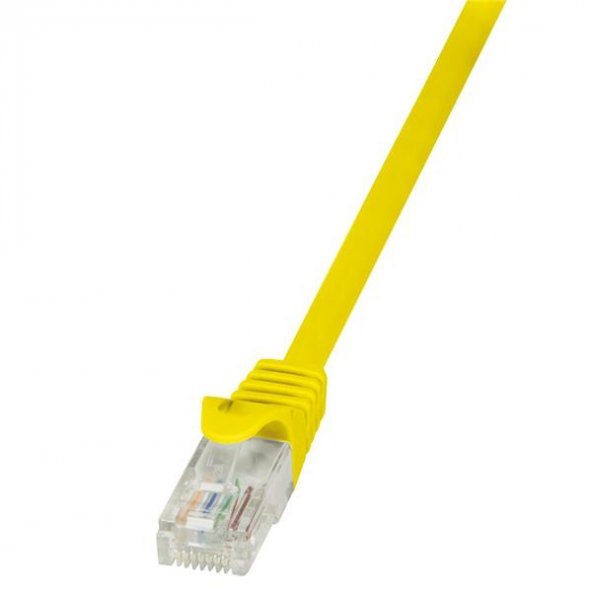 LogiLink CP2017U EconLine CAT6 U/UTP Patch Kablo, AWG 24/7, Sarı,