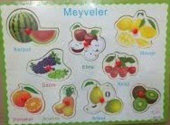 Ahşap Meyveler Yapboz MGZ030