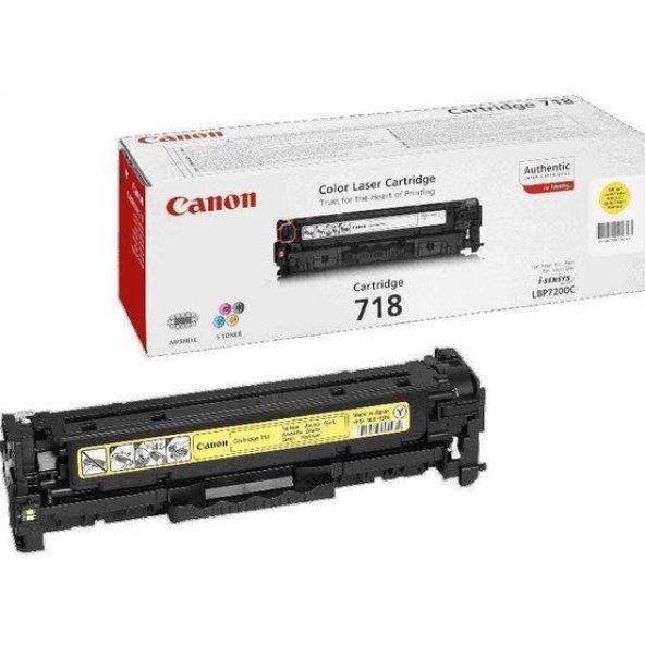 Canon CRG-718 Sarı Toner