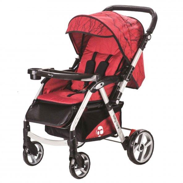 Baby Care BC-50 Maxi Çift Yönlü Lüks Bebek Arabası Kırmızı