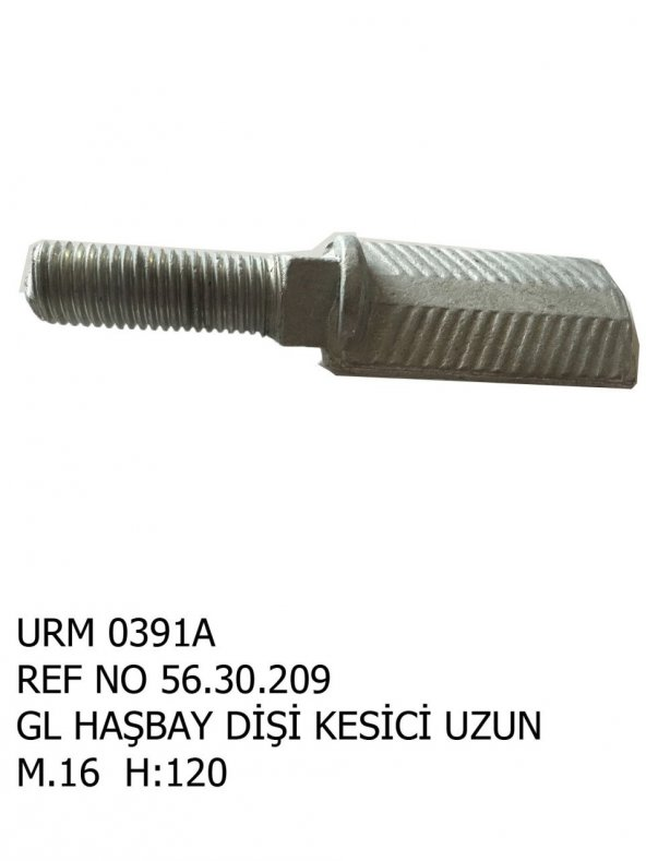 L Haşbay Dişi Kesici Uzun M:16 H:120 Ür.No:0391A