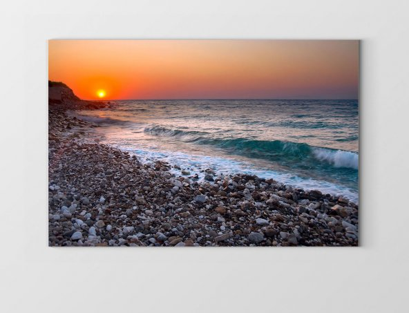 Güneş Batımı Ve Deniz Tablosu