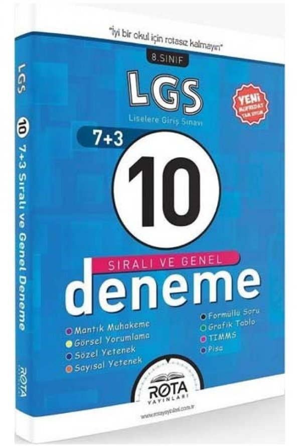 Rota Yayınları LGS 10 lu Sıralı ve Genel Deneme Seti