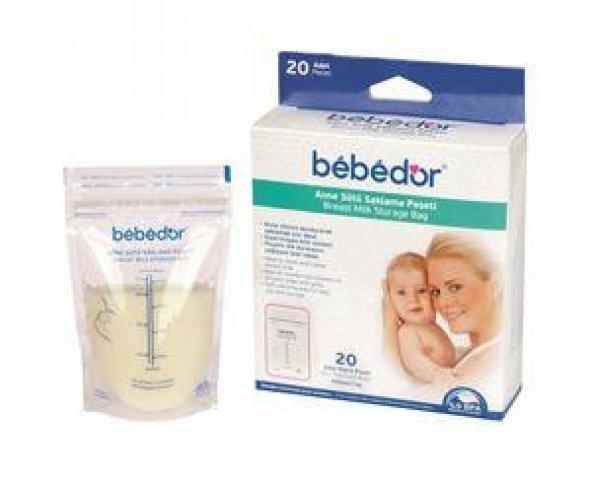 Bebedor Anne Sütü Saklama Poşeti 20li