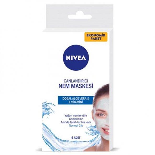 Nivea Canlandırıcı Nem Maskesi Ekonomik 6 x 5 ml