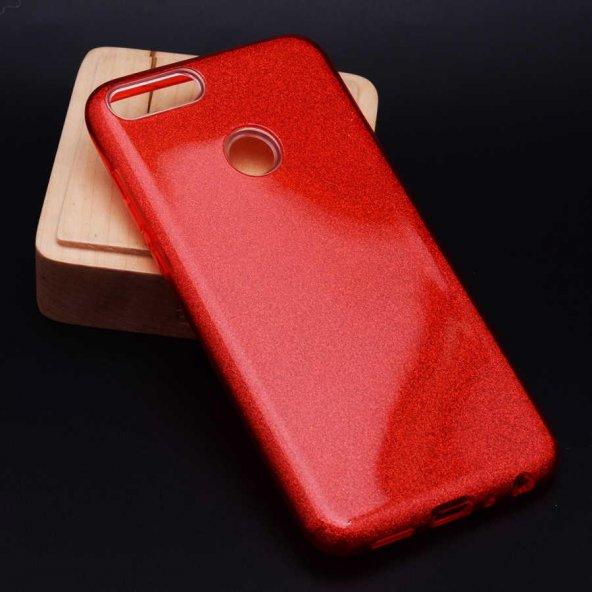 Edelfalke Huawei P Smart Shining Silikon Kılıf Kırmızı