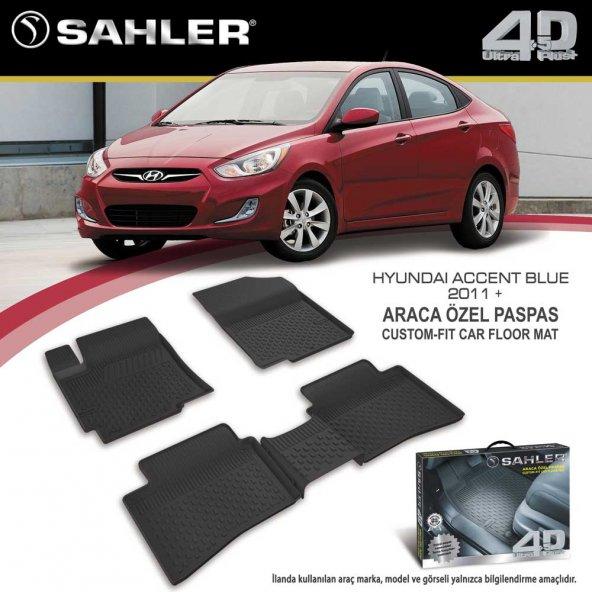 4.5D Lüks Paspas Hyundai Accent Blue 11-18 Siyah