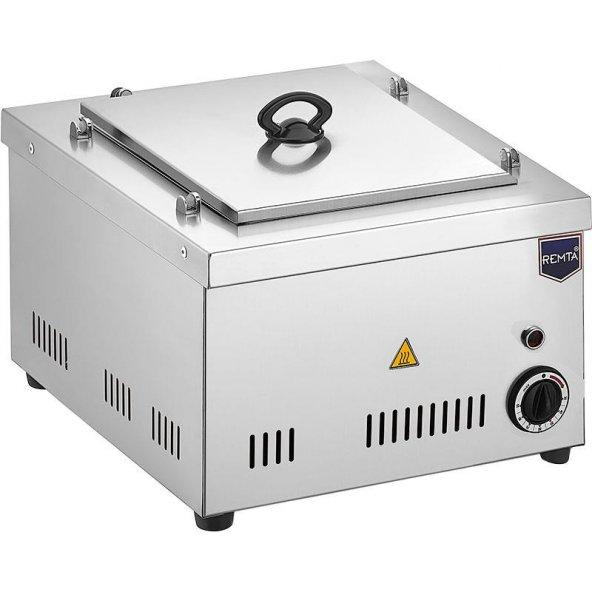 Remta Elektrikli Benmari Makinesi Set Üstü 1 Gözlü Kapaklı