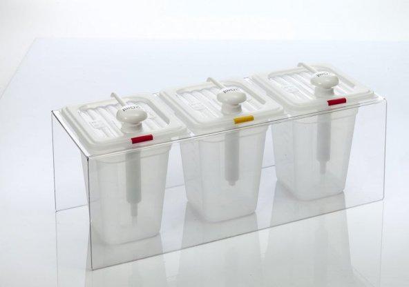 Ketçap Mayonez Hardal Pompası Standı Dispenser Şeffaf